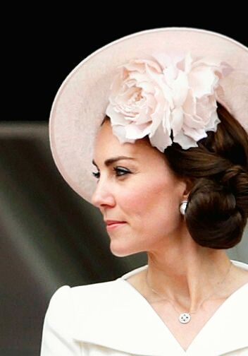 Catherine, Duchess of Cambridge during the Trooping the Colour, this year marking the Queen's 90th birthday at The Mall on June 11, 2016 in London, England.