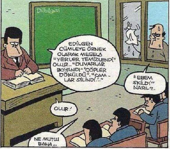 Dilbilgisi Dersi Karikatürü Özer Aydoğan | Karikatürname