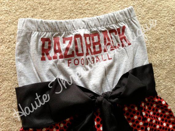Arkansas Razorbacks HOGS Football College Gameday Dress by hautethreadsboutique, $70.00