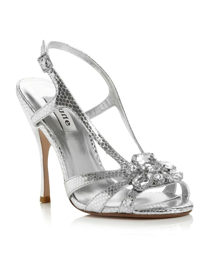 Habitat Larged Caged Jewel Sandals, Silver