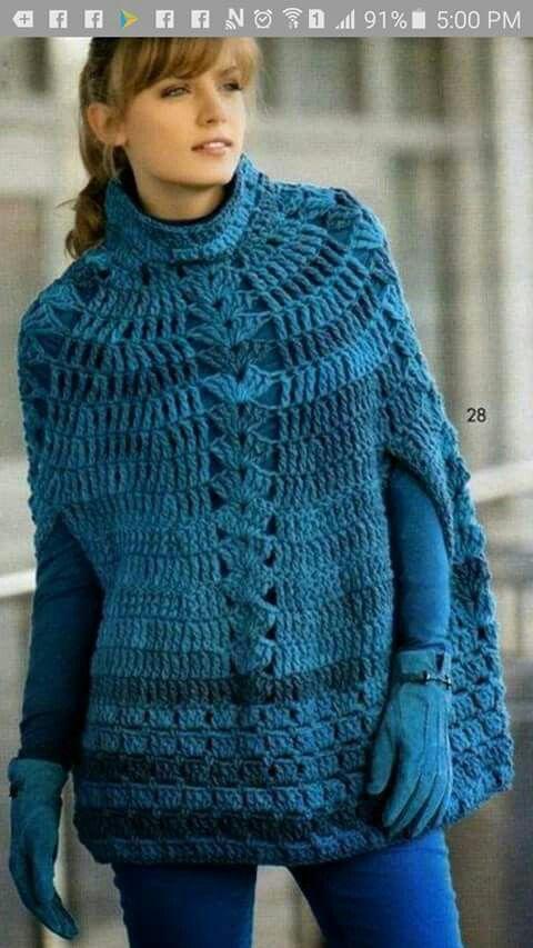 Best +200 ponchos images on Pinterest | Abrigos de invierno ...