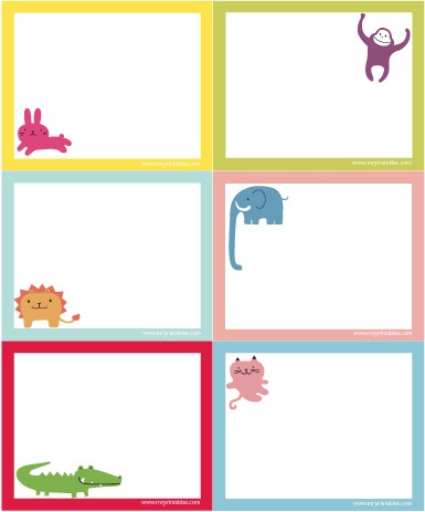 Loads of printables for my boy!Animal Notecards