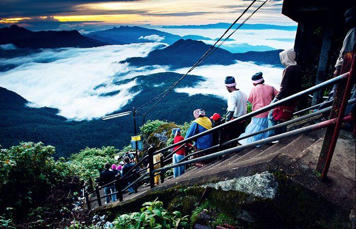 Above the Clouds at Adam's Peak (Sri Pada), Sri Lanka