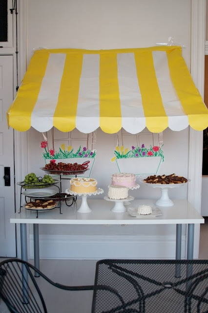 Cupcake Bar Cover - adorable!!!  Do this in purple and hot pink???