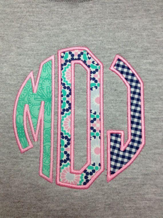 Applique Circle Monogram Sweatshirt