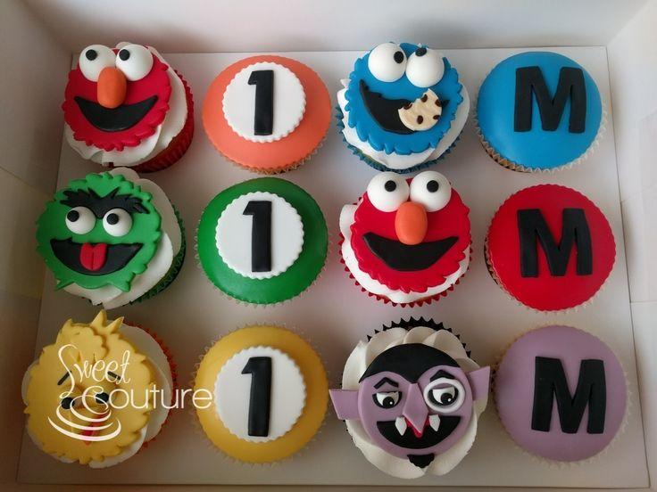 Sesame Street Cupcakes for Massimo's 1st birthday