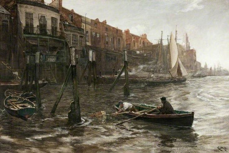 Limehouse Hole, 1910 by Charles Napier Hemy (British 1841–1917)