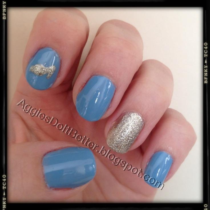 Cinderella Nails: Disney Princess Half Marathon Nails! Sparkly :) Matches My
