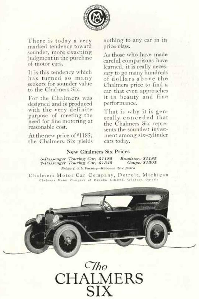 1922 Chalmers Ad