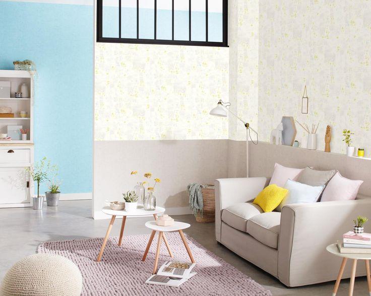 Papier peint patchwork vert 67017070 uni taupe 67031378 uni bleu 67036032 - Papier peint facile a poser ...