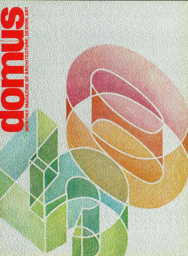 """sketch for the poster """"50 years of Domus' by Bob Noorda (1979)"""