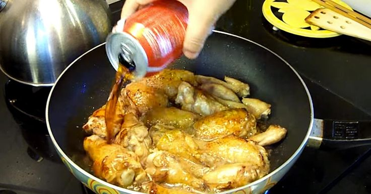 She Pours A Can Of Coca-Cola Over Her Chicken Wings. The Result? I'm DROOLING!