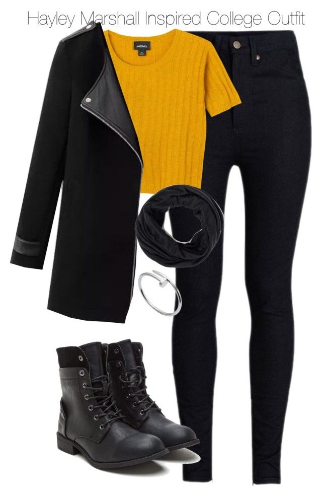 Hayley Marshall Inspired College Outfit by staystronng on Polyvore featuring Monki, Rodarte, Cartier, Winter, to, college and hayleymarshall
