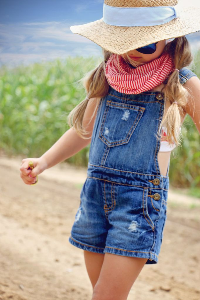 @guess The perfect look for the 4th of July. #Guess Kids #overalls #kidsstyle…