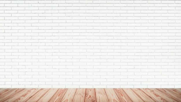 Empty Top Of Wood Floor With White Brick Wall Background White Brick Wood Floors Brick Wall Background