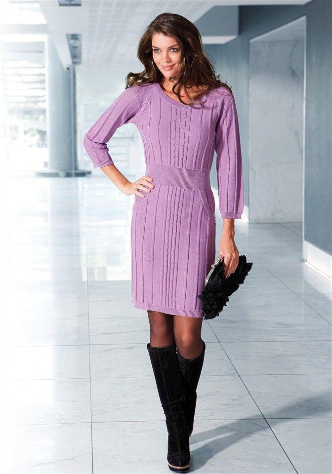 Осенние вязаные платья. Женские вязаные платья | 3vision - Fashion blog