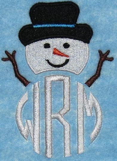 Snowman Christmas Topper Embroidery Design | Apex Embroidery Designs, Monogram Fonts & Alphabets