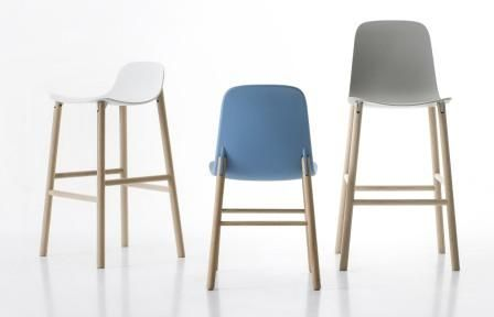 Sharky stool, high back and low back and chair by Kristalia