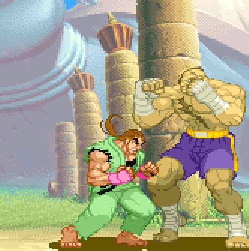 Street Fighter Alpha 2, arcade.