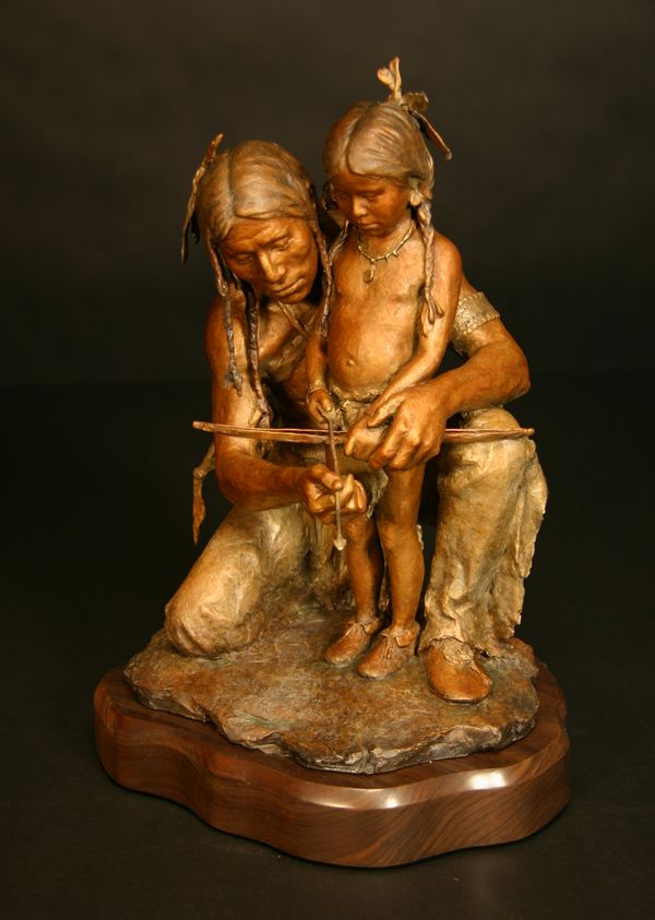 """Iron Sharpens Iron"" Bronze by John Coleman,"