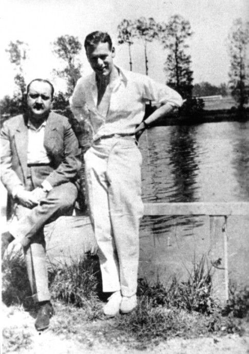 The artist Christopher Wood with French art collector and patron, Alphonse Kahn. Kahn encouraged Wood to move to Paris in the early 1920s, where he studied painting and rubbed shoulders with the likes of Jean Cocteau, Sergei Diaghilev and Pablo Picasso.  Wood developed his painting style at such a rate that by the time of his death, aged only 29, he was regarded as one of Britain's most singular painters.