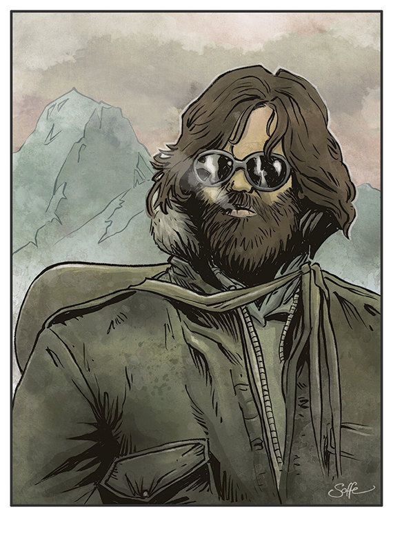 The Thing Kurt Russell/John Carpenter colour by Mygrimmbrother, £7.50