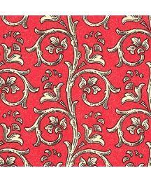 Red Dappled Garland Print Italian Paper ~ Carta Varese Italy