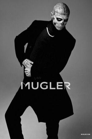 Rick Genest / Male Models, Tattooed guy, Black & White Photography