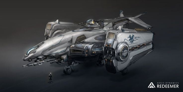 ArtStation - Redeemer Gunship Exterior, Tobias Frank