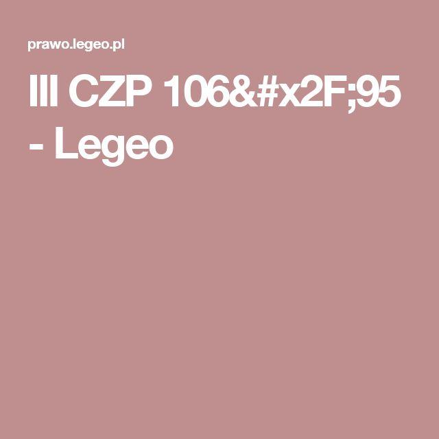 III CZP 106/95  - Legeo