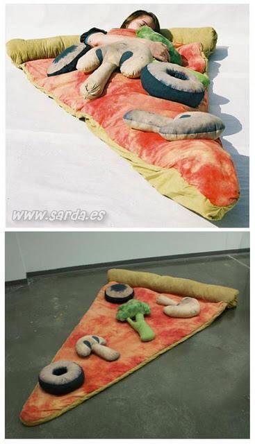 lit-original-pizza ou plutôt tapis de sol