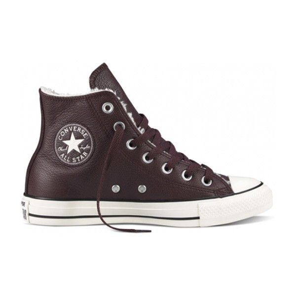 Converse Chuck Taylor All Star Leather Shearling in Deep