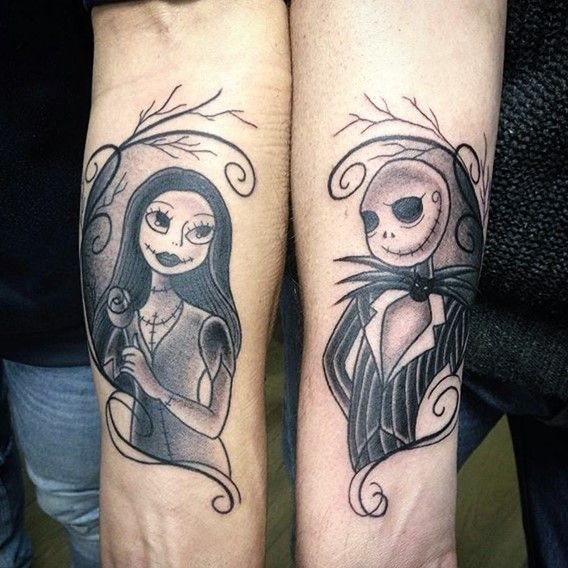 ... before christmas tattoo Nightmare before christmas and Jack and sally