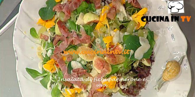 Insalata di fichi pannerone e uva ricetta Barzetti La Prova del Cuoco   Cucina in tv