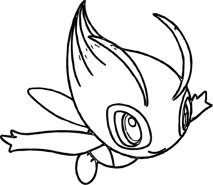 i have download pokemon celebi coloring pages - Grass Type Pokemon Coloring Pages