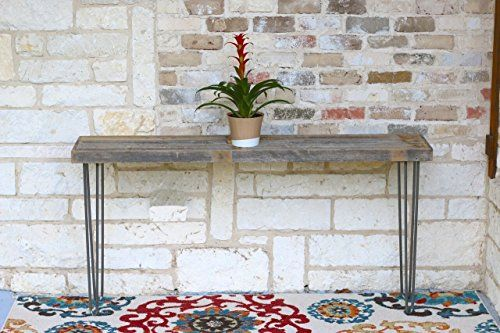 Industrial 60 Inch Natural Console Table Living Room Furniture in