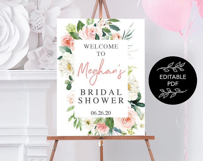 Welcome Bridal Shower Editable PDF Instant Download Fall Bridal Shower Sign Editable Bridal Shower Welcome Sign Burgundy Pumpkin