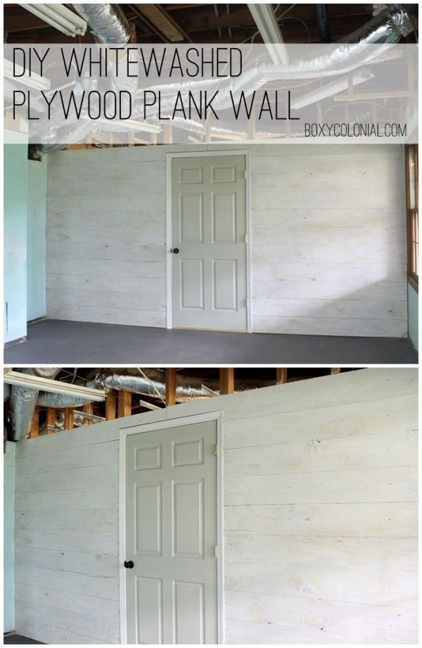 diy whitewashed plank wall from plywood easy and inexpensive project by singram plywood. Black Bedroom Furniture Sets. Home Design Ideas