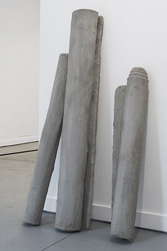 Valérie Kolakis | Untitled (Rugs) | 2014 | Cement soaked rugs | Dimensions variable — at FOLD Gallery London.