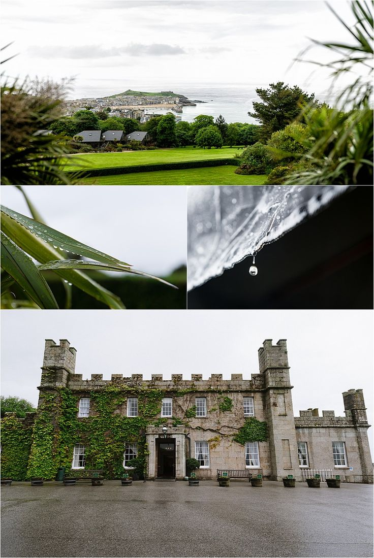 A very wet wedding at Tregenna Castle