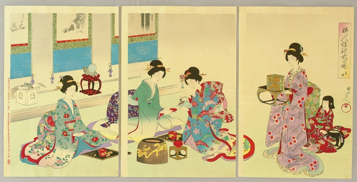 Ladies' Manners and Customs - New Year's Day  Artist	Chikanobu Toyohara 1838-1912