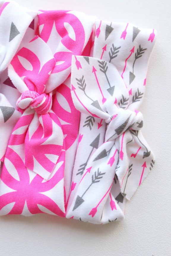 The Knotted Headband // Flamingo Arrow // Limited Edition   Little Hip Squeaks