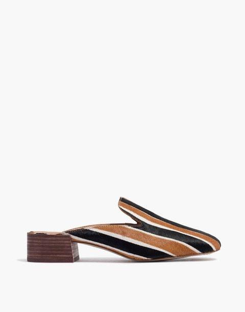 f6bb77d6111 The Willa Loafer Mule in Striped Calf Hair in acorn multi image 3 ...