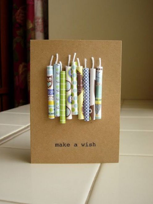 Handcrafted diy birthday card  ideas for men