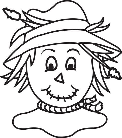 Printable Scarecrow Coloring Page for Kids | Halloween ...