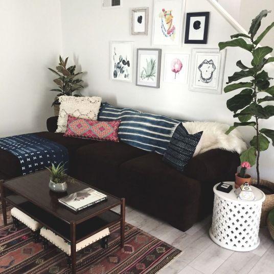 30 Elegant Bohemian Decor Inspiration 32 Black Couch Decor Black Sofa Living Room Decor Couch Decor