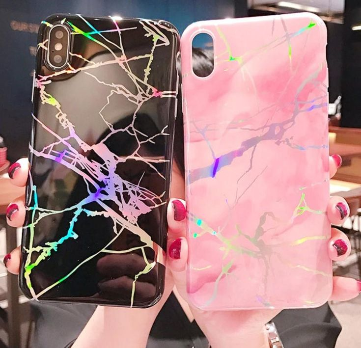 Glossy Laser Marble Phone Case For Iphone In 2019 Phone Cases