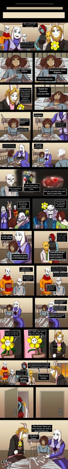 I apologise for my inactivity. Drama with home life xD But it's getting better now  Thank you for waiting patiently and being very supportive as always  Frisk, Sans, Papyrus, Toriel, As...