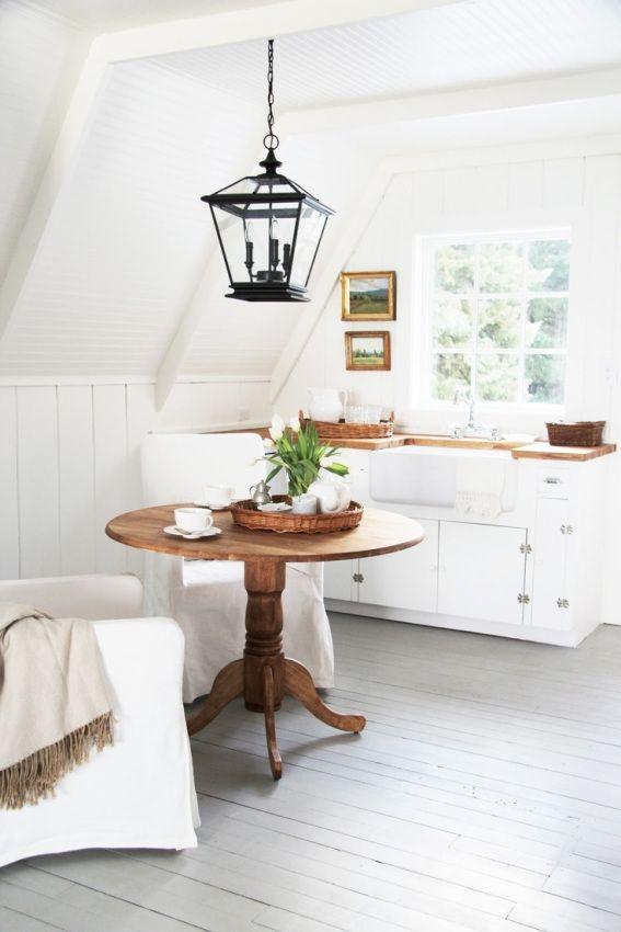 gray painted wood flooring.. love it!
