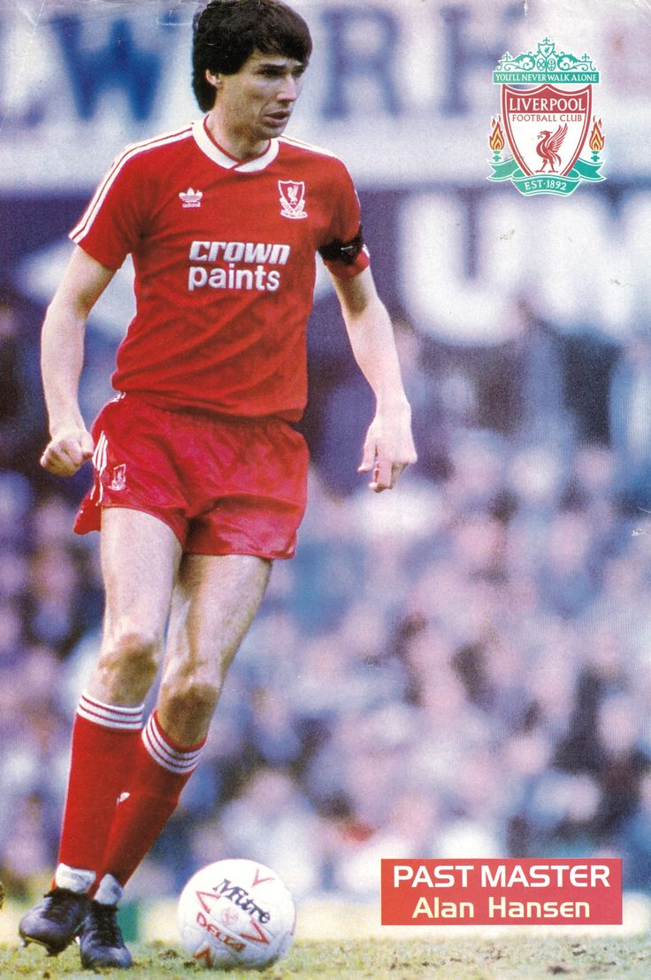 Alan Hanson of Liverpool in 1986.
